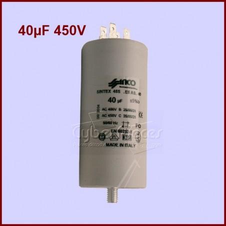 Condensateur 40,0µF (40,0MF) 450 Volts