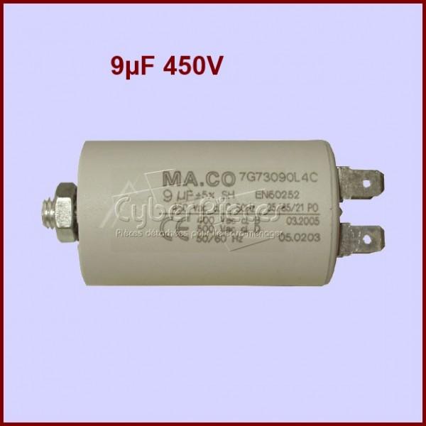 Condensateur 9,0µF (9mF) 450V