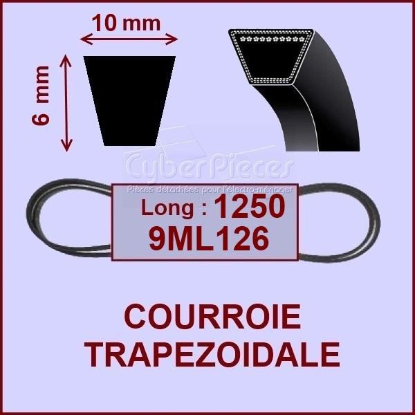 Courroie trapézoïdale 10X6X1250 -  9ML126/7