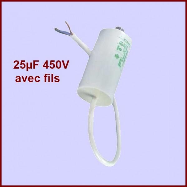 Condensateur 25,0µF (25,0mF) 450V