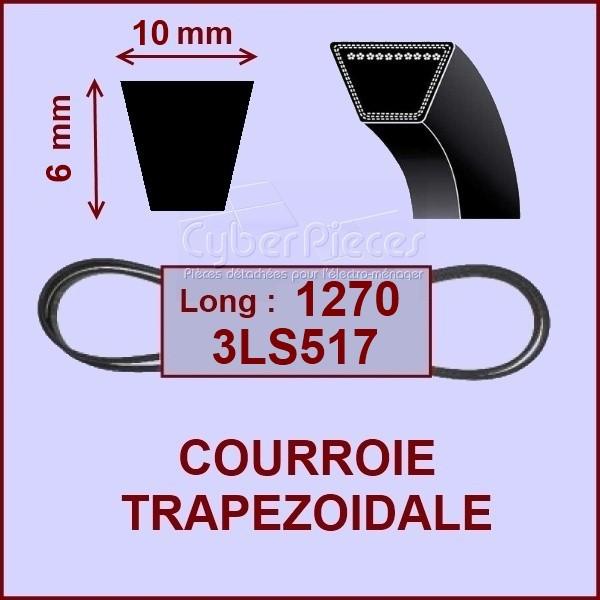 Courroie trapézoïdale 10X6X1270 - 3LS517