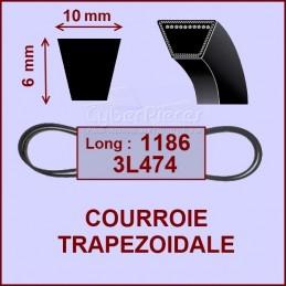 Courroie trapézoïdale 10X6X1186 EL - 3L474 CYB-003933