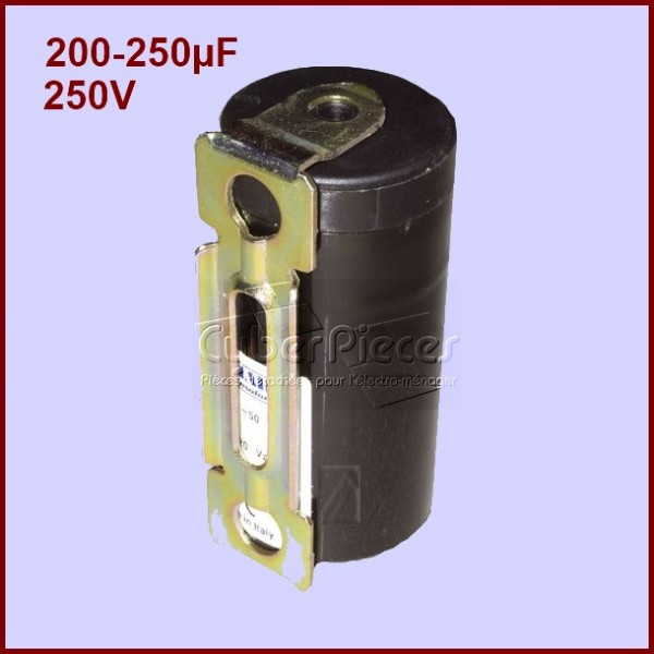 Condensateur 200,0 - 250,0µF (200,0 - 250,0MF) 250 Volts