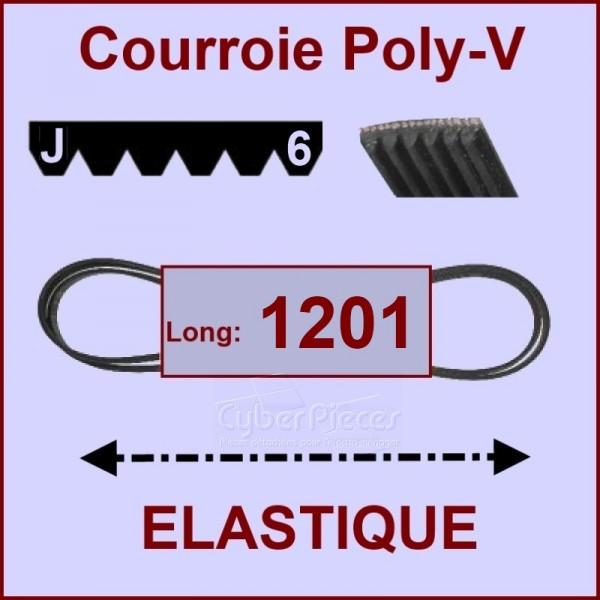 Courroie 1201J6 - EL- élastique
