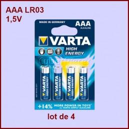 Lot de 4 Piles Alcaline AAA...