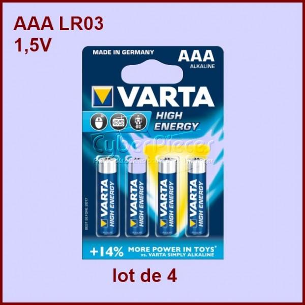 Lot de 4 Piles Alcaline AAA LR03 1,5V