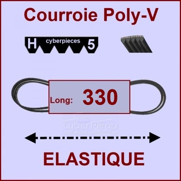 Courroie 330H5 - EL- élastique