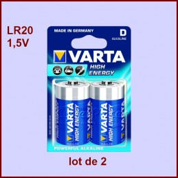 Lot de 2 Piles 1,5V alcaline LR20 CYB-039932