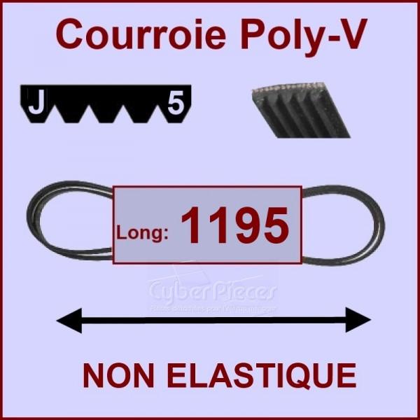 Courroie 1195J5 non élastique