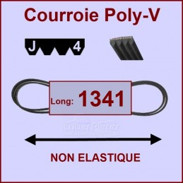 Courroie 1341J4 non élastique