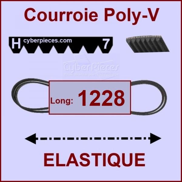 Courroie 1228 H7 - EL- élastique