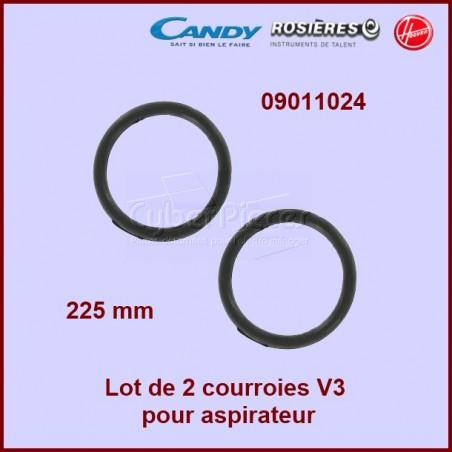 Lot de 2 courroies V3 - HOOVER 09011024