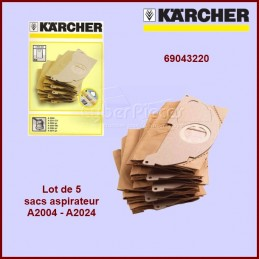 Lot de 5 sacs aspirateur Kärcher 69043220 Version origine CYB-352505