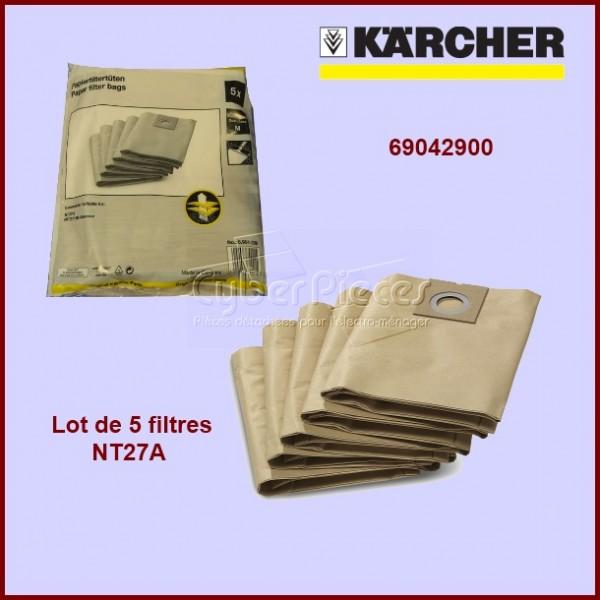 Lot de 5 sacs aspirateur Kärcher 69042900