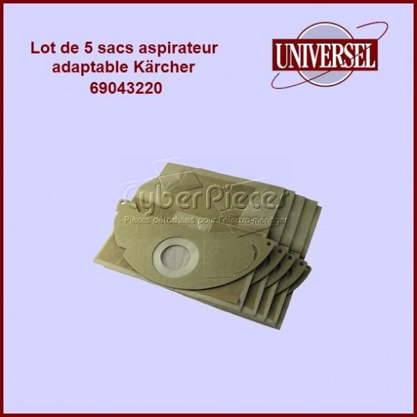 Lot de 5 sacs aspirateur 69043220 BS46 SE3001 2501- Kärcher 69043220 version adaptable