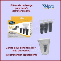 Lot de 3 filtres pour carafe Actiwater 480181700938 CYB-178969