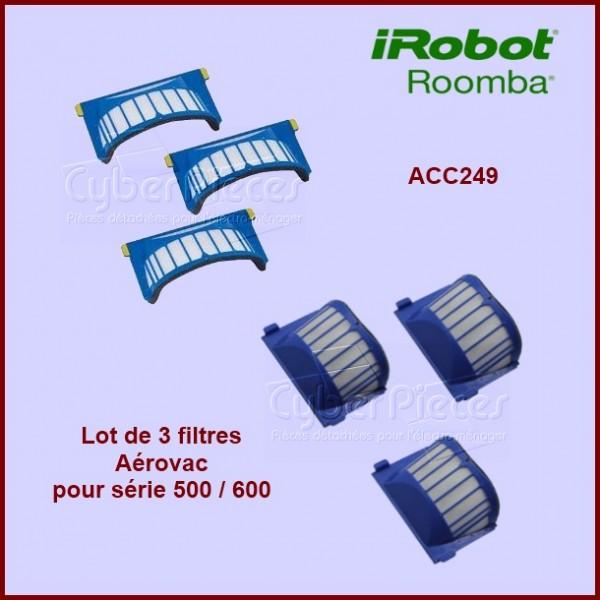 Lot de 3 filtres Aérovac pour Irobot ROOMBA - ACC249