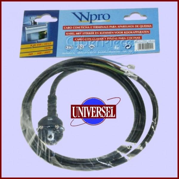 Câble d'alimentation 3X1.5mm² 1,7m SHUKO 3fils