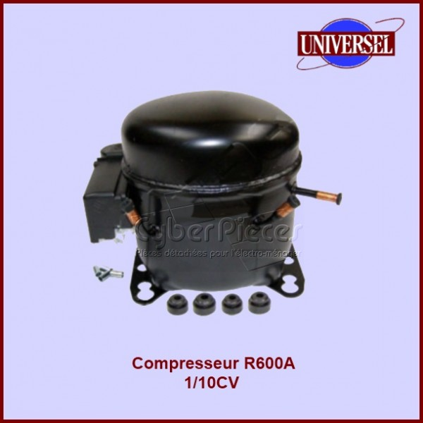 Compresseur R600A 1/10CV HVY44AA SANS RH