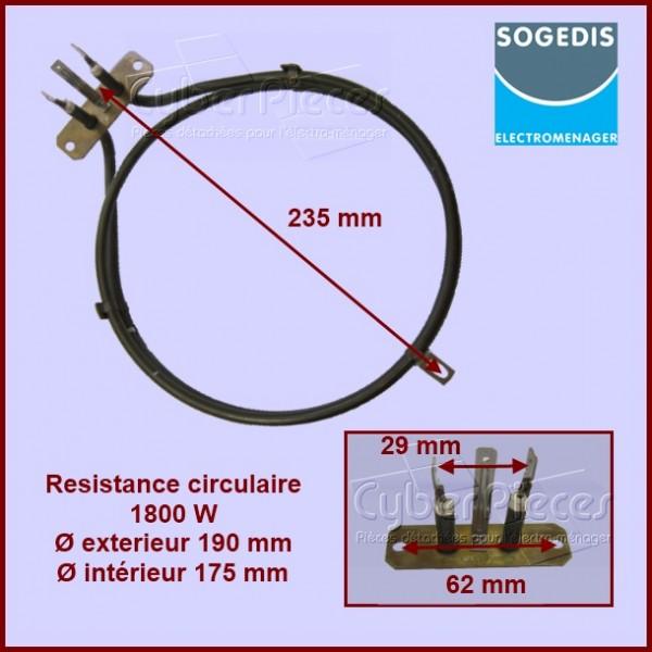 Résistance circulaire 1800W Sogedis 74598