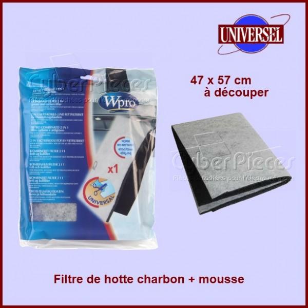 Filtre charbon + mousse anti-odeur UCF006