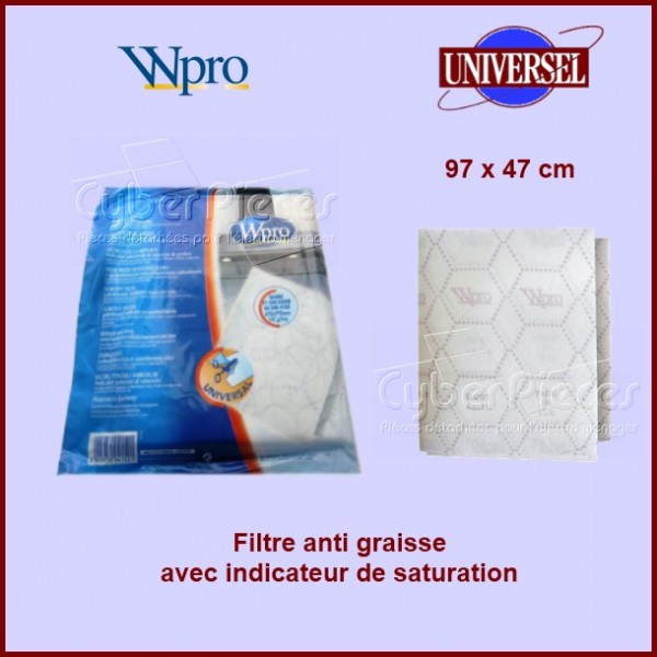 Filtre anti graisse à Indicateur de Saturation