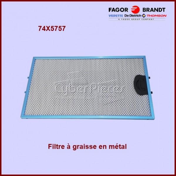 Filtre à graisse en métal 74x5757