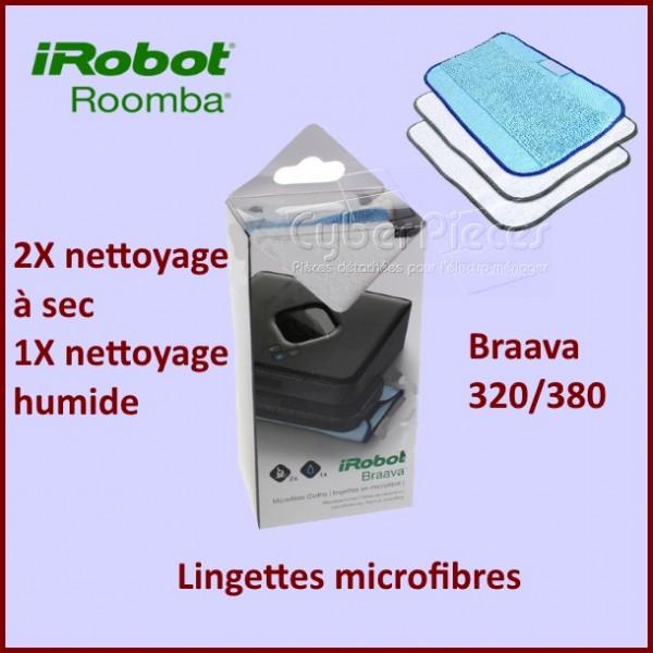 Lot de 3 lingettes microfibres (BRAAVA 320 / 380)