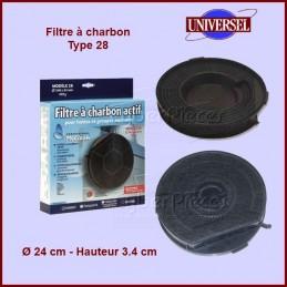 Filtre à charbons Type 28