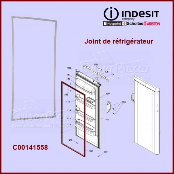 Joint de porte de réfrigérateur ou congélateur C00141558