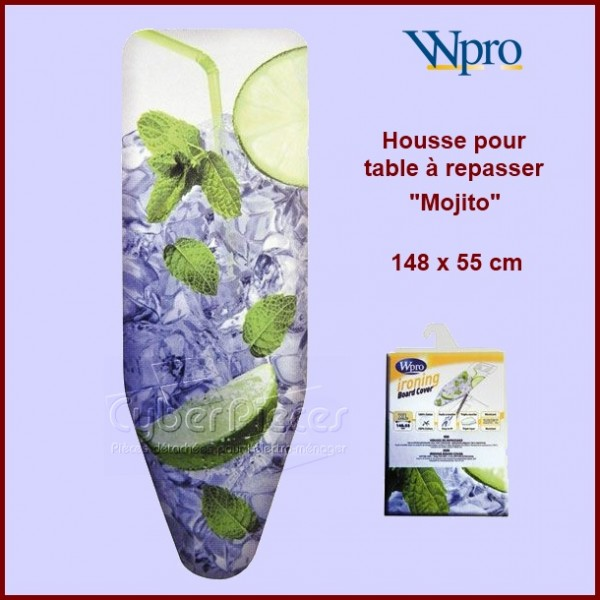 Housse de table repasser wpro mojito pour fer central for Housse de table a repasser
