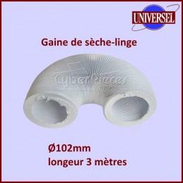 Gaine PVC de seche linge Ø 102mm - longueur 3m CYB-002479