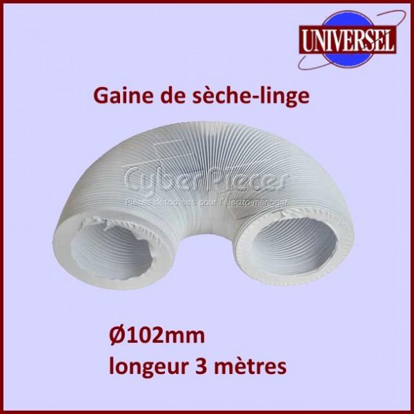 Gaine PVC de seche linge Ø 102mm - longueur 3m