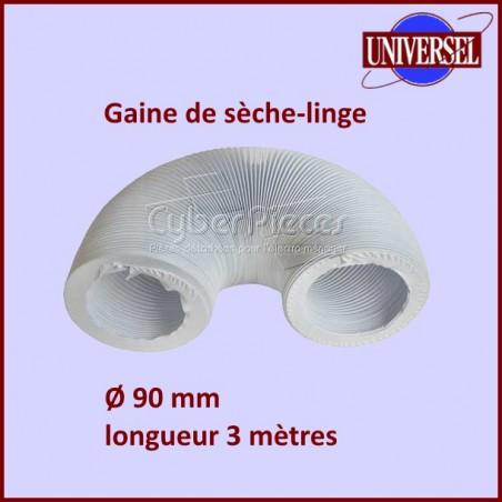 Gaine PVC de sèche-linge diamètre 90mm longueur 3mètres