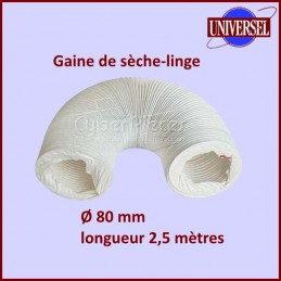 Gaine PVC sèche-linge diamètre 80mm longueur 2.5 mètres CYB-002554