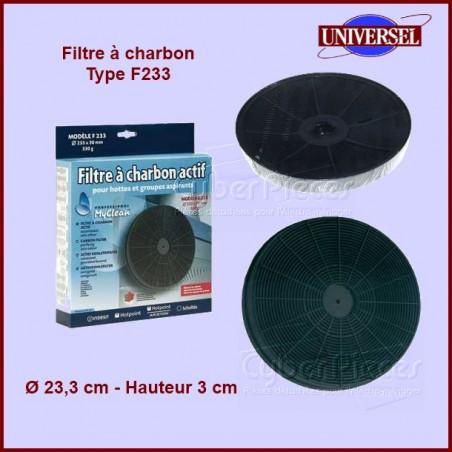 Filtre à charbon Type F233