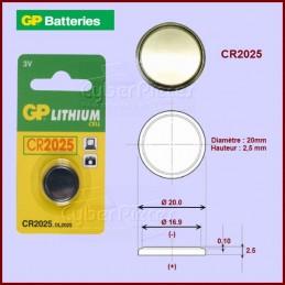 Pile bouton Lithium CR2025...