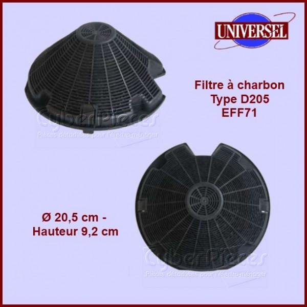 Filtre à charbon Type D205 - EFF71