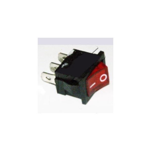 interrupteur 10a noir lumineux rouge 3 cosses 19x13mm pour. Black Bedroom Furniture Sets. Home Design Ideas