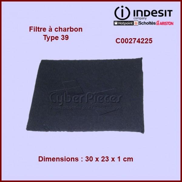 Filtre à charbon Type 39 Indesit C00274225