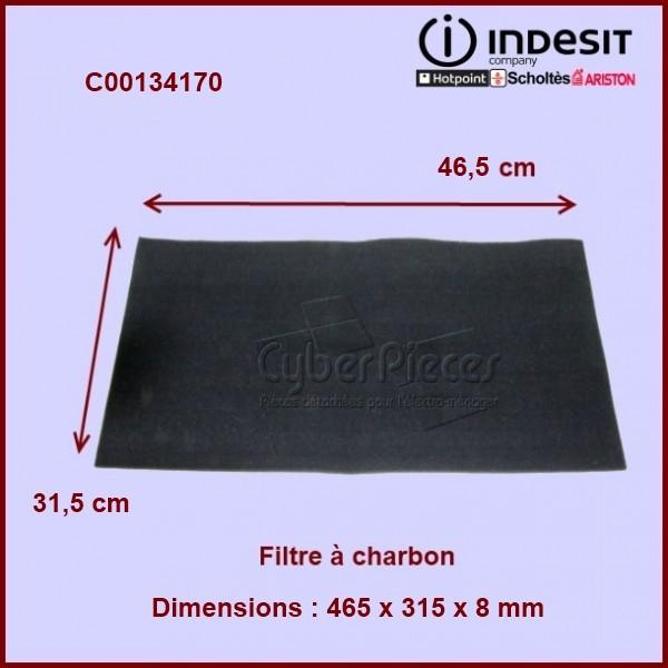 Filtre à charbon 465x315x8 mm - C00134170