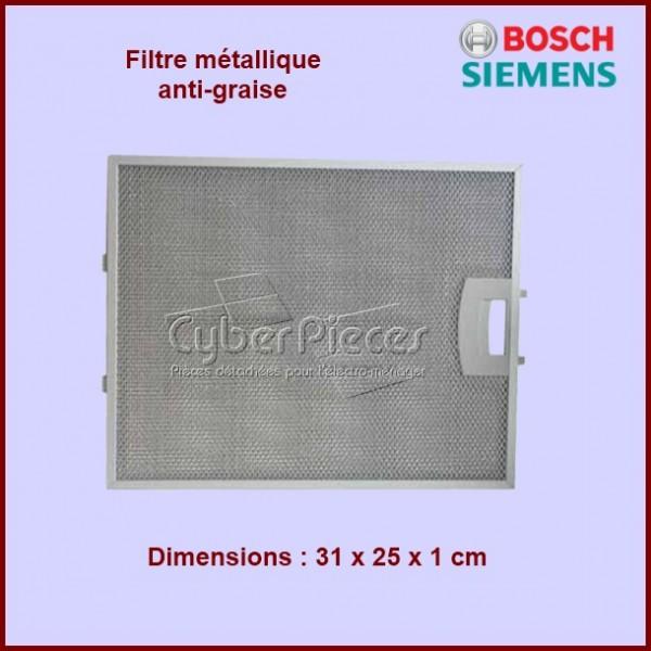 Filtre métallique anti-graisse 00353110