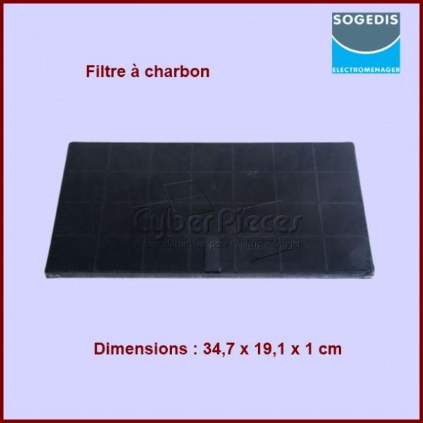 Filtre à charbon 347x191x10 mm