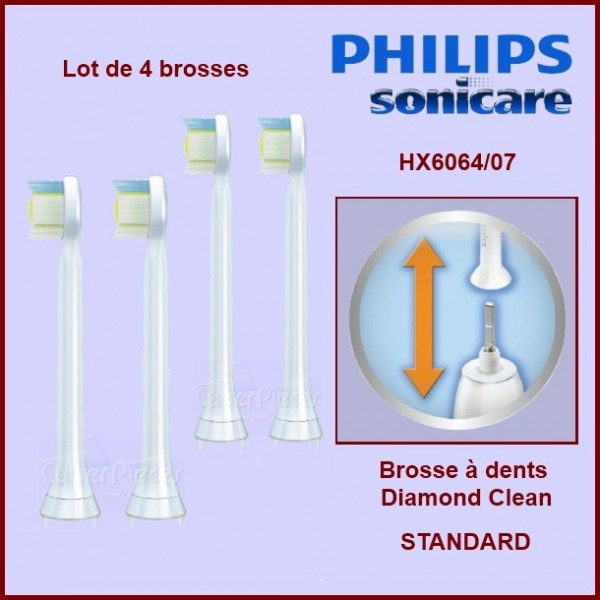 Brosses à dents Sonicare Diamond Clean Standard HX6064/07