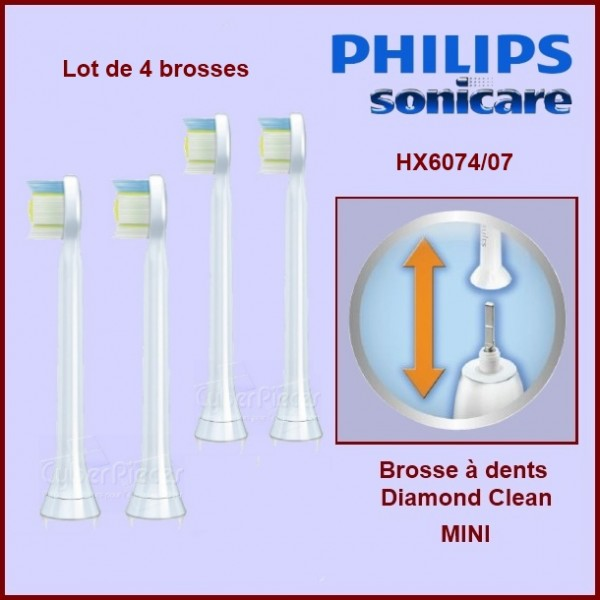 Brosses à dents Sonicare Diamond Clean Mini HX6074/07