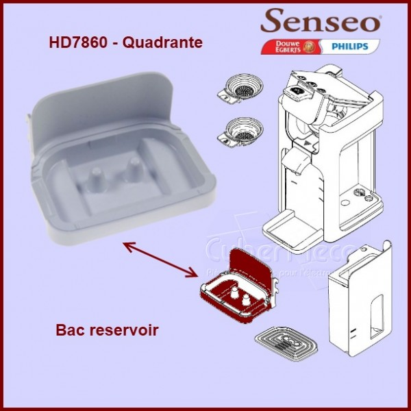 Bac réservoir Senseo HD7860 - 422224761550