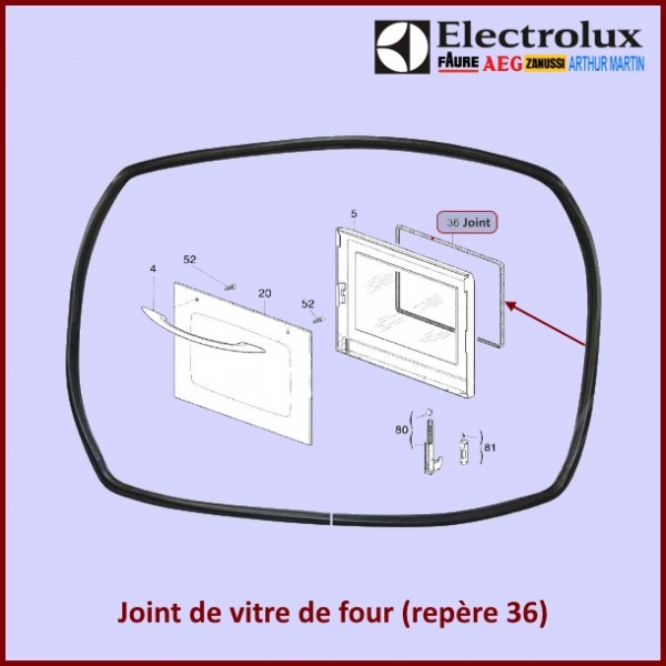 Joint De Porte De Four Boulanger Electrolux 3154411007 Pour Fours Ou