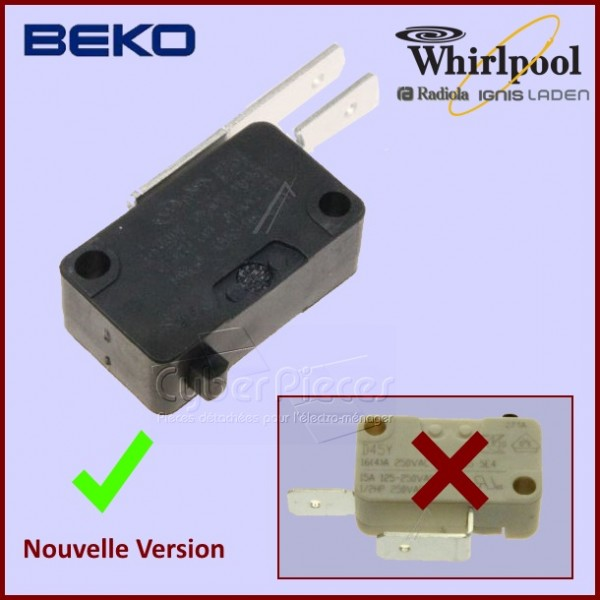 Interrupteur Micro-switch Beko 1731980300 CYB-190145