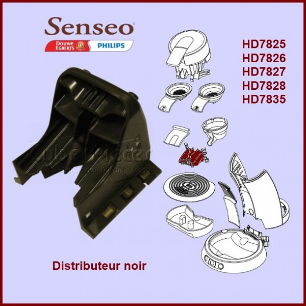 distributeur noir senseo 422225948241 pour senseo machine a dosettes petit electromenager. Black Bedroom Furniture Sets. Home Design Ideas