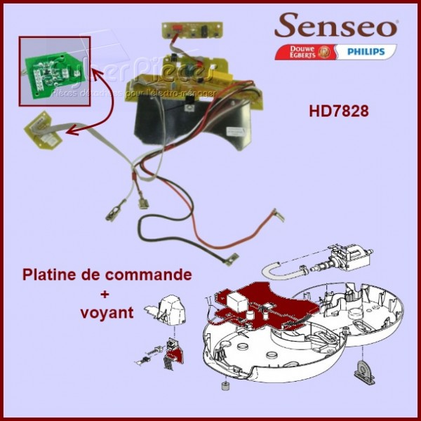 Platine de commande + voyants Senseo - 422225948881